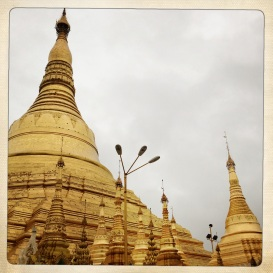 The staggering Shwedagon Pagoda in Yangon, Myanmar