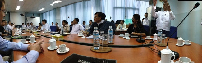 Meeting with Myanmar Technology Entrepreneurs at the ICT Park outside Yangon